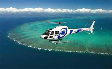 helicopter flight from Port Douglas