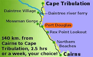 Map Of Australia Port Douglas.Port Douglas On The Great Barrier Reef Drive