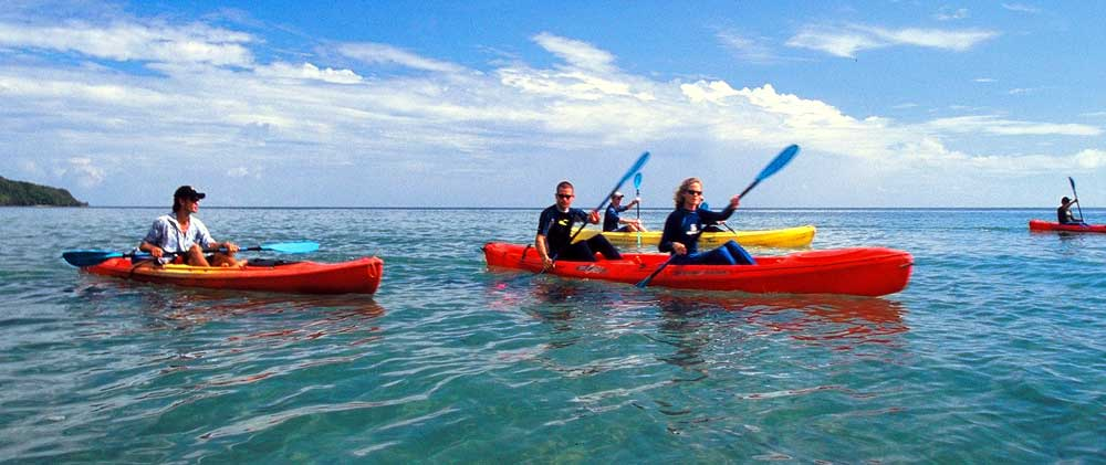 sea kayaking on the Daintree coast at Cape Tribulation