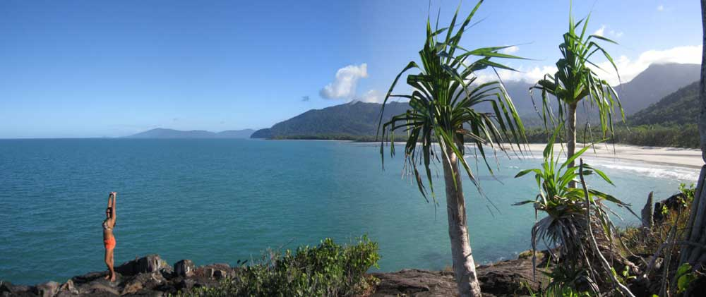 View from Cape Tribulation looking south over Myall Beach