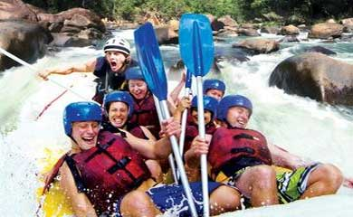 White water rafting from Cairns